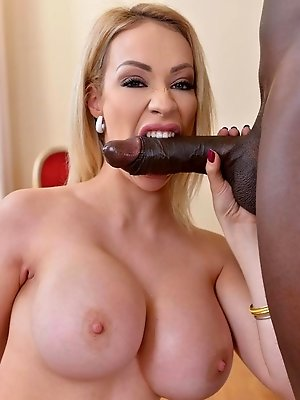 Time Flies By: Black Cock Bangs Busty Babe's Big Tits