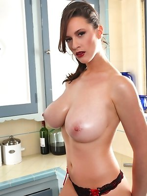 You know I always love to do activites while topless because bras can be so constricting and I love to let my big boobs swing free and breathe a bit,